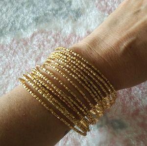 Stella & Dot Gold Wrap Bracelet NWOT